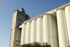 老五谷存贮筒仓 基辅,乌克兰 免版税库存图片