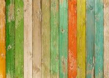 老五颜六色的木板条纹理或背景 免版税库存照片