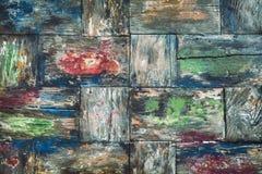 老五颜六色的柚木树木书桌背景 图库摄影