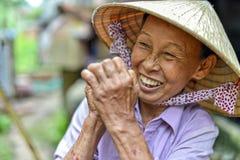 老亚裔妇女 免版税库存图片