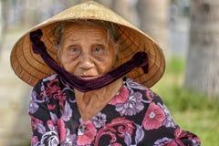 老亚裔妇女 免版税库存照片