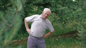 老人做早晨身体斜面 股票视频