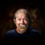 老人吸血鬼 库存图片