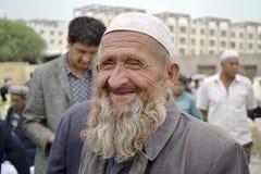 老人在喀什 免版税库存照片