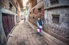 老人在Patan 免版税库存照片
