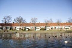 老人的住房在荷兰 免版税库存图片