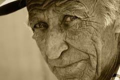 老人的视域 免版税库存图片