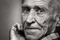 老人的视域 库存图片