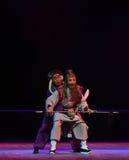 """老人的谐谑夜与战斗孩子的北京Opera""""Yue teenager† 免版税库存照片"""