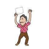 老人空白纸 图库摄影