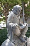 老人雕塑 库存照片
