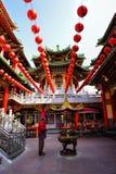 老传统三峰寺庙门面 免版税库存图片