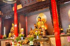老传统三峰寺庙 图库摄影