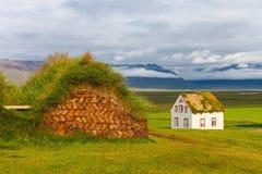 老传统冰岛农场 免版税库存照片