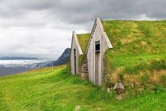 老传统冰岛农场 图库摄影