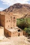 老传统房子在南摩洛哥 免版税库存照片
