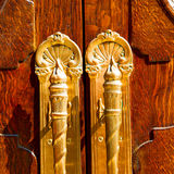 老伦敦门和木头ancien取决于的摘要 图库摄影