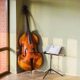 老低音提琴 图库摄影