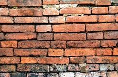 老作为背景的砖墙难看的东西老砖墙 库存照片
