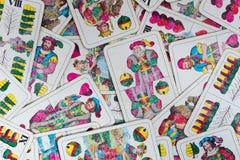 老使用的德国人卡片威谦廉告诉甲板 图库摄影