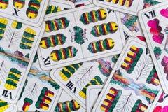 老使用的德国人卡片威谦廉告诉仅甲板数字 库存照片