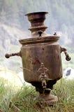 老俄国俄国式茶炊 免版税库存照片