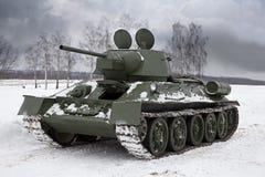 老俄国坦克 免版税库存照片