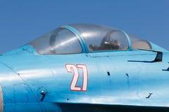 老俄国战斗机 战斗机细节驾驶舱  免版税库存照片