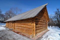 老俄国木房子,博物馆Kolomenskoye,俄罗斯,莫斯科 免版税库存图片