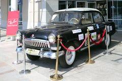 老俄国模型汽车在Sopot,波兰 免版税图库摄影