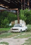 老俄语被放弃的汽车 免版税库存照片