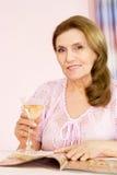 老俏丽的妇女 免版税图库摄影