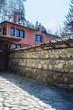 老保加利亚房子在民族志学村庄Koprivshtitsa 免版税图库摄影