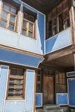 老保加利亚房子在民族志学村庄Koprivshtitsa 免版税库存图片