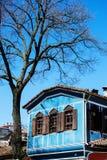 老保加利亚房子在民族志学村庄Koprivshtitsa 库存图片