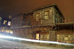 老保加利亚房子 免版税库存照片