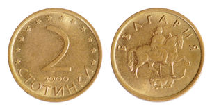 老保加利亚硬币 免版税库存照片