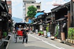 老保留的街道(Takayama,日本) 库存图片