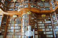 老修道院图书馆 库存照片