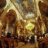 老修道院在利沃夫州伯纳迪诺 库存图片
