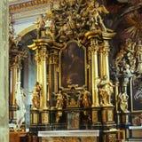 老修道院在利沃夫州伯纳迪诺 库存照片