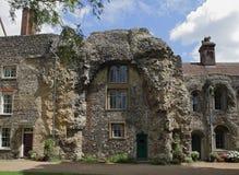 老修道院废墟,埋葬St, Edmunds 库存照片