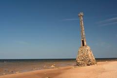 老倾斜的灯塔 免版税图库摄影