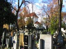 老公墓在欧洲中央  免版税图库摄影