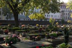 老公墓在纽伦堡/德国 免版税库存照片