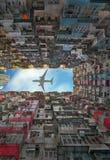 老公寓在香港 免版税库存照片