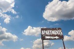 老公寓标志 库存图片