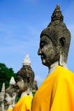 老具体佛教雕塑 免版税库存图片
