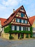 老典型的德国大厦 免版税库存照片