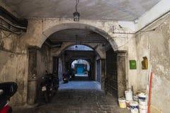 老内部段落在巴勒莫在西西里岛,意大利 图库摄影